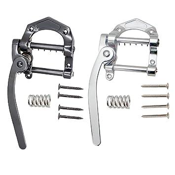 Sharplace 2 Piezas Puente Trémolo Tailpiece Cordal Accesorios para Guitarra Eléctrica B5 SG LP: Amazon.es: Instrumentos musicales