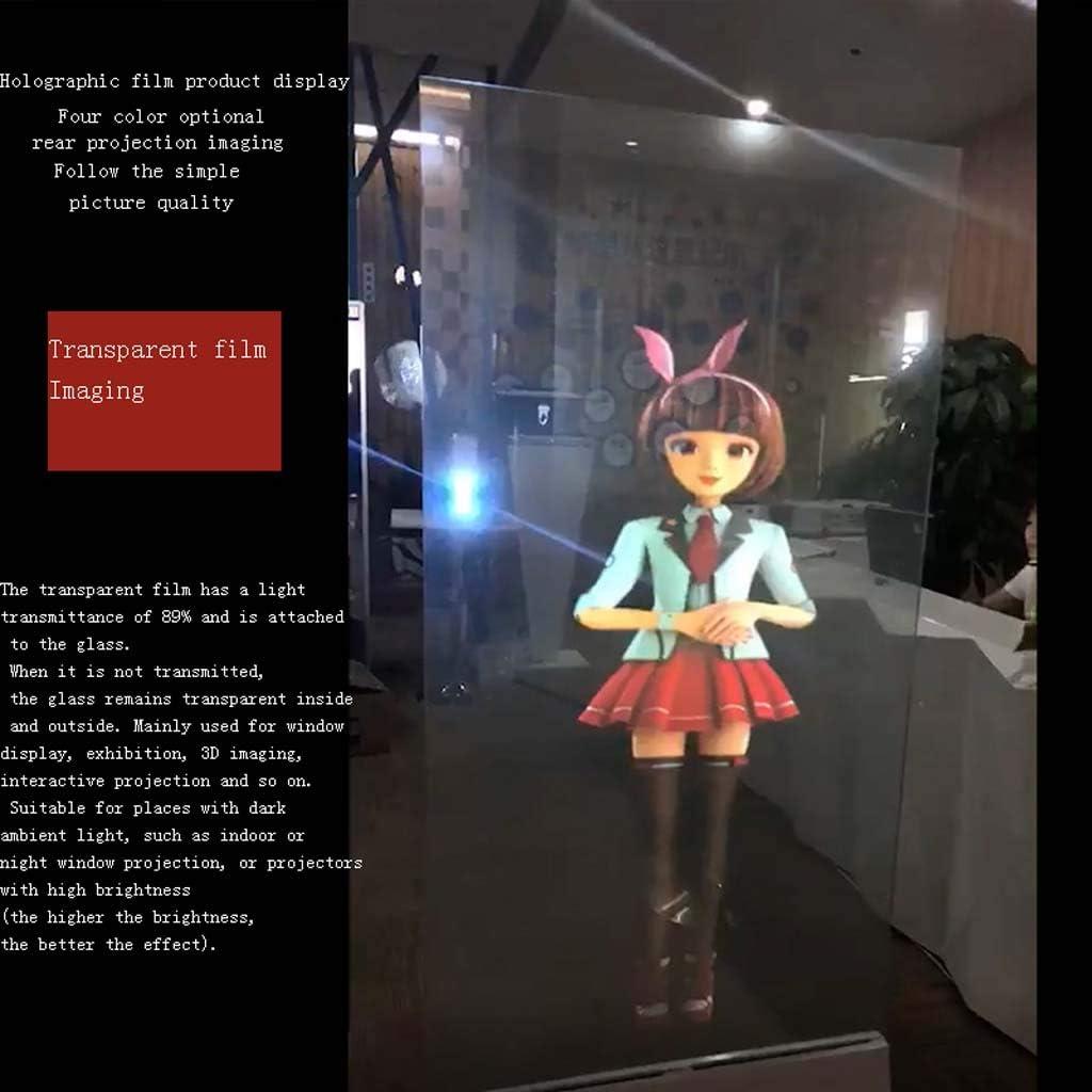 JIANGNAN Película holográfica a Simple Vista Imagen Fantasma 3D Pantalla de Cristal Película de proyección Trasera Película de proyección de Imagen estereoscópica: Amazon.es: Electrónica