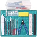 Rustark 19Pcs Gundam Modeler Basic Tools Craft Set Hobby Building Tools Kit for Professional Model
