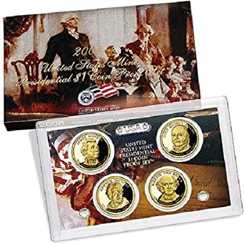 2008-S United States Mint Presidential Dollar Proof Set W// Original Box COA OGP