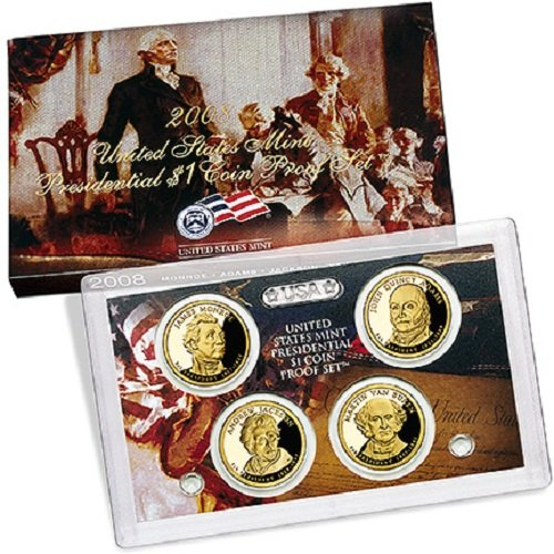 2008 Presidential $1 Coin Proof Set in OGP Box with COA