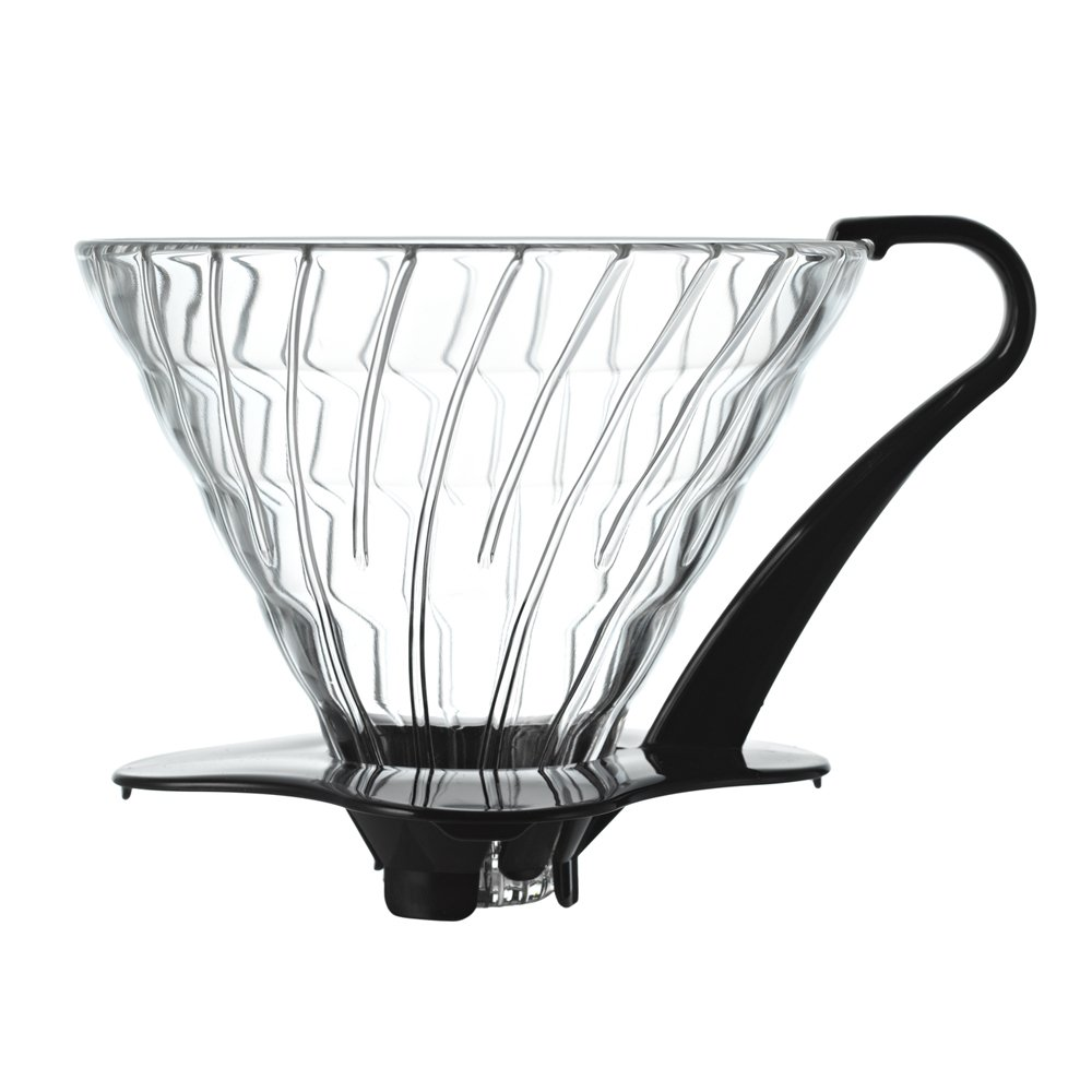 Hario V60 Glass Coffee Dripper (Size 03, Black)