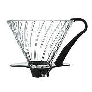 Hario V60 Glass Coffee Dripper, Size 03, Black
