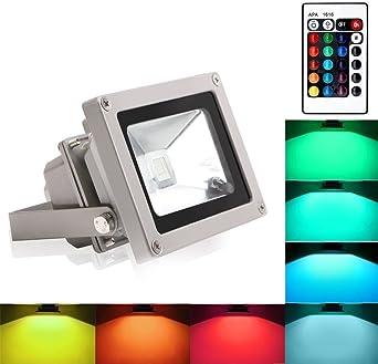 Blinngo 10W RGB Foco LED Proyector de Exterior impermeable IP65 ...