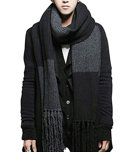 Yyx Winter Fashion Womens Men Warm Soft Knitted Wool Long Scarf