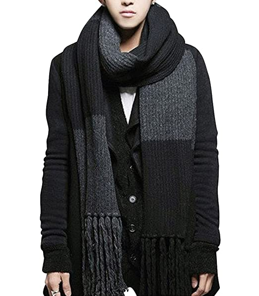 8262407101f YYX Winter Fashion Womens Men Warm Soft Knitted Wool Long Scarf Shawl at  Amazon Men s Clothing store  Fashion Scarves