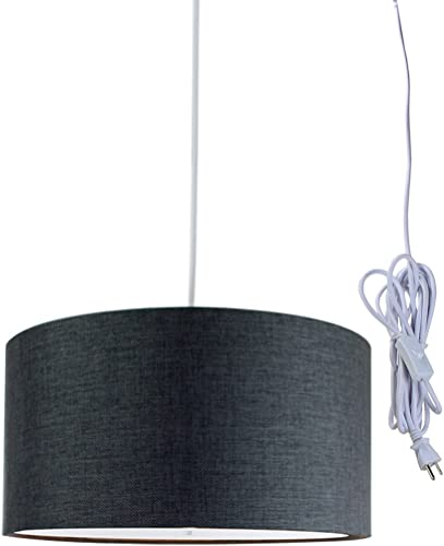 2 Light Swag Plug-in Pendant 16″w Granite Gray