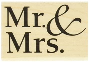 Hero Arts Mr. And Mrs. Woodblock Stamp by Hero Arts