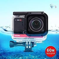 GHFPCASE voor 60m Onderwaterdiepte Diving Case waterdichte camera behuizing for Insta360 ONE R 4K Groothoek Edition (transparant) (Color : Transparent)