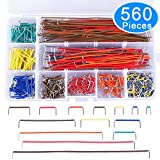 jumper wires bread board - AUSTOR 560 Pieces Jumper Wire Kit 14 Lengths Assorted Preformed Breadboard Jumper Wire with Free Box