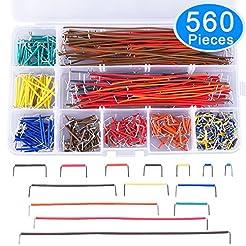 AUSTOR 560 Pieces Jumper Wire Kit 14 Len...