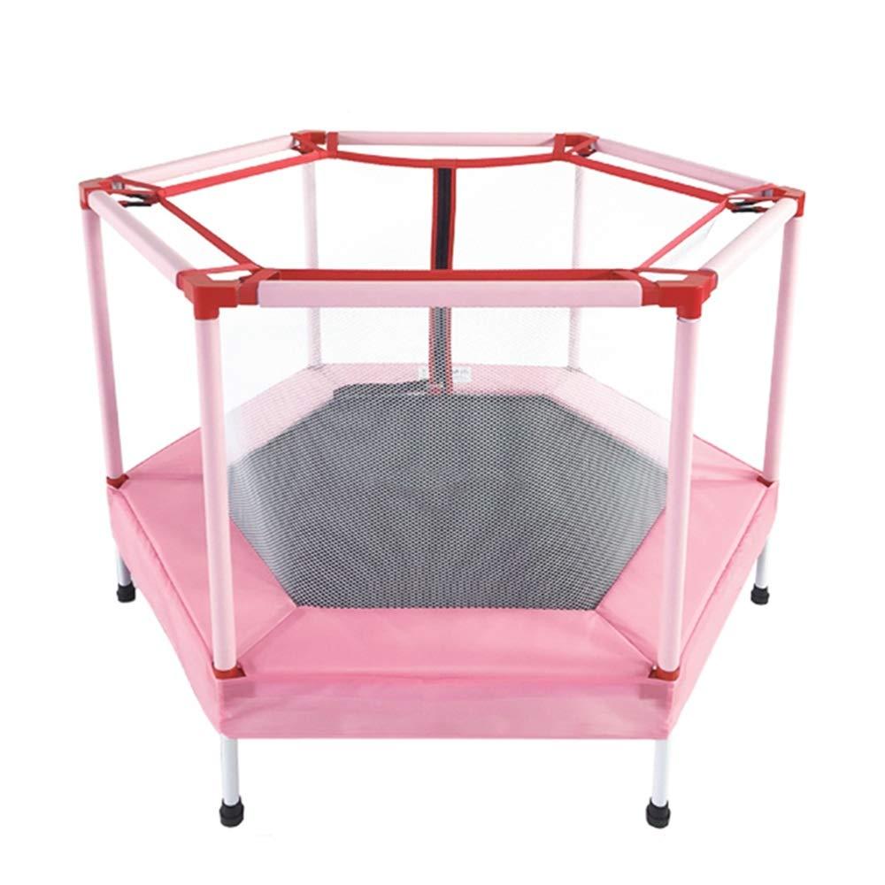 XIAOMEI,ベッドフェンス トランポリン子供のためのトランポリンセーフティネットトランポリンアクセサリーエンクロージャサラウンドネットセーフティエンクロージャネットスプリングパッド最大耐荷重250kg 家庭、屋外で使用されます (Color : Pink, Size : 48inch) 48inch Pink B07TCVHF5Q