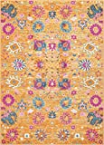 Colorful Rugs Nourison (PSN01) Passion Colorful Bohemian Sun Orange Area Rug, 6'7