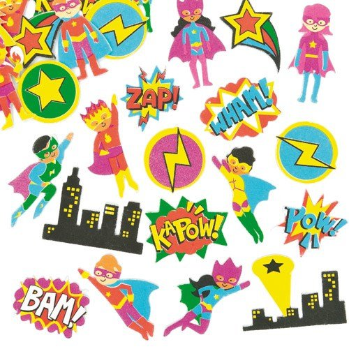 Baker Ross Star Hero Foam Stickers for Children to Decorate Cards Crafts and Collage (Pack of -