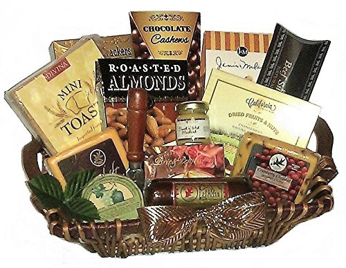 Classic Cheese, Meat and Nut Gourmet Gift Basket