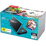 New Nintendo 2DS XL Console Black Blue with Mario Kart 7