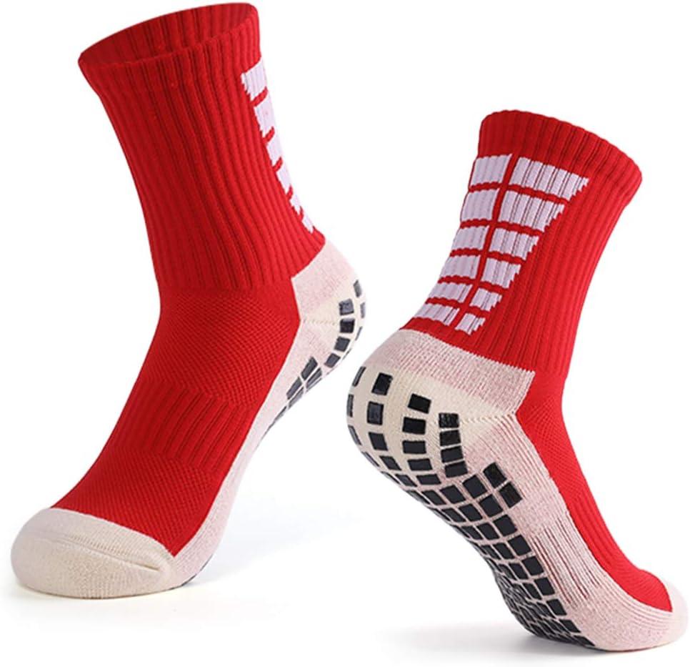 Explopur Calcetines Antideslizantes de fútbol para Hombre ...