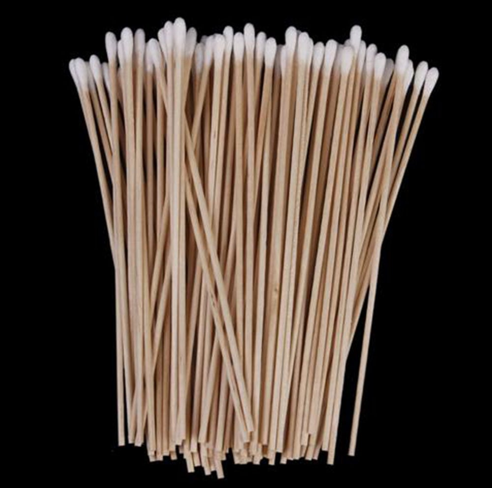 100x Chytaii Cotton Buds Swabs Wooden Handle Single Tip Cotton Swab Cotton Buds