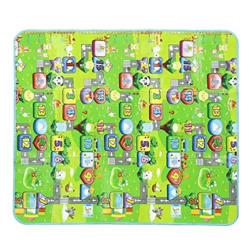 "Baby Kid Toddler Play Crawl Mat, YKS 70"" X 78"" Playing Carpet Playmat Foam Picnic Blanket Rug Non-slip & Waterproof & Eco-friendly & Double Sides Baby Care Play Mat / Kids Crawling Mat"
