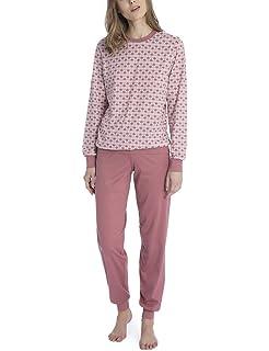 1b4499870874b3 Calida Damen Zweiteiliger Schlafanzug Enya: Amazon.de: Bekleidung