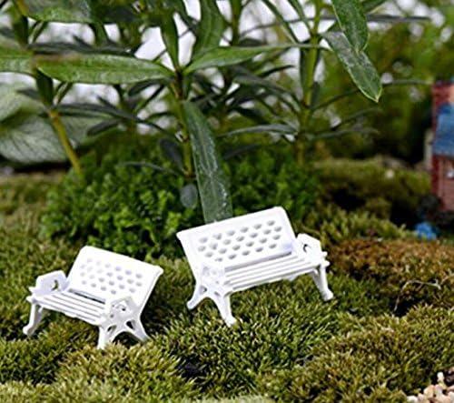 Sonpo - Banco de jardín para decoración de casa de muñecas (tamaño Mediano), plástico, Blanco, 2,5 cm: Amazon.es: Hogar