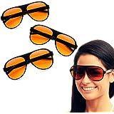 3 Pair Aviator Blue Blocker Sunglasses Amber Lens Driving Glasses Eyewear Shades