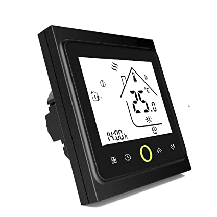Onepeak Termóstato de Wifi programable de para calefacción de la caldera Pantalla LCD Controlador de temperatura