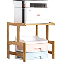 Printer Stand Practical Stand for Fax Machine with Large Storage Shelves Multifunction Office Desktop Printer Stand,A