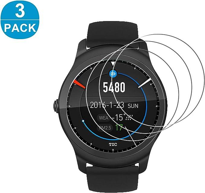 rbeik ticwatch 2 Smartwatch Protector de pantalla [vidrio templado ...