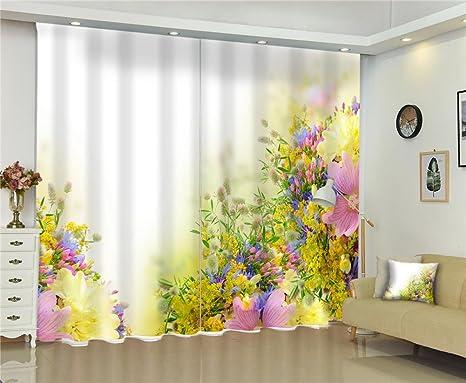 Tende A Fiori Per Camera Da Letto : Tende d fiori colorati tessuti di stampa anti uv tessuto spessore
