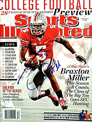 85a51d6cc Braxton Miller OHIO STATE BUCKEYES autographed Sports Illustrated magazine  8 19 13