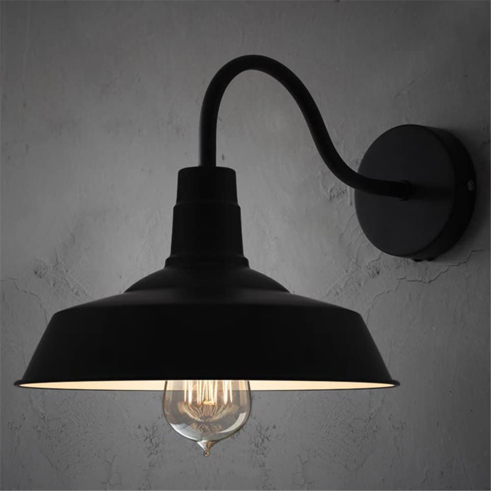 BAYCHEER HL371794 Industrial Retro Style Aluminum Barn Warehouse Wall Sconce Wall Lamp Modern Lighting for Restaurant 1 Light Black