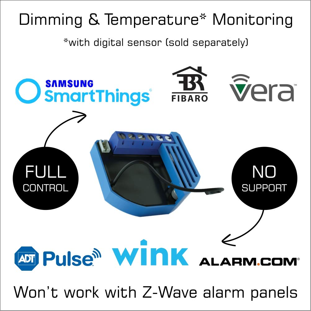 Hub Required Qubino Z-Wave Plus 0-10 V Dimmer ZMNHVD3 for LED Low Voltage Dimmable Fixtures