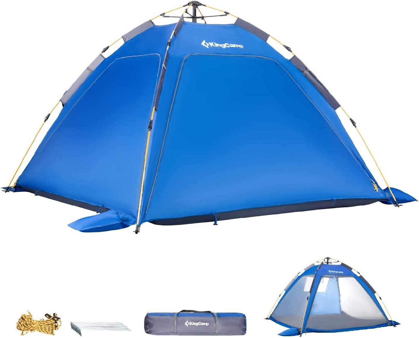KingCamp Quick up 2-3 Person Camping Mesh Beach Tent, Sun Shelter UPF 50 , Mosquito Net Screen Room Tents