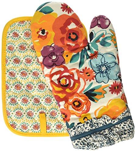 oven mitt set floral - 7
