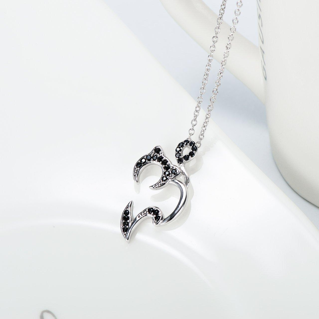Amazon.com: Llamador de ángeles gato regalo de joyería plata ...