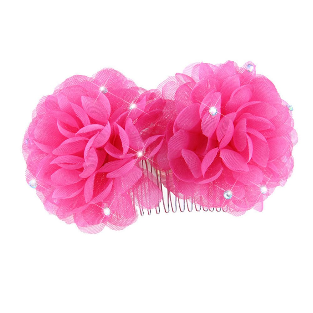 Amazon Wcysin Flower Hair Comb Floral Hair Clips For Women Rose