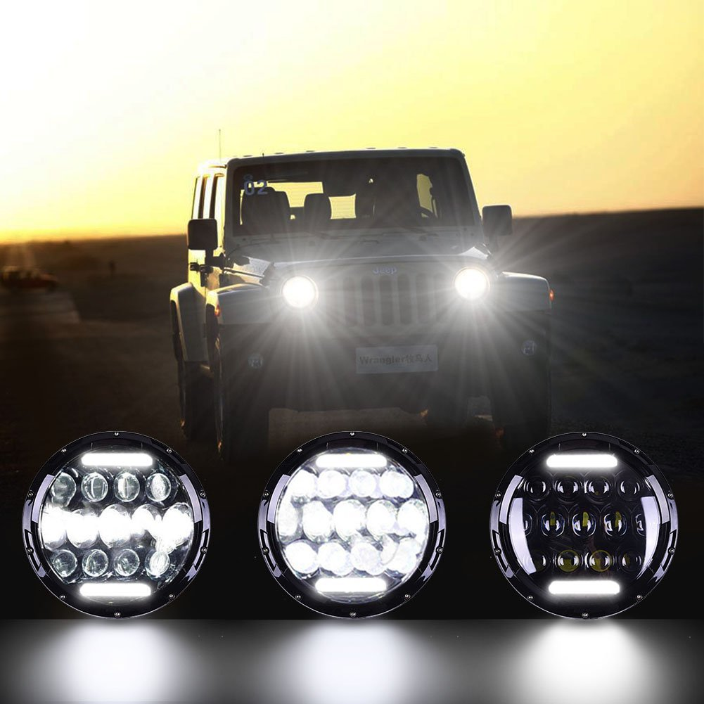 Catinbow Pair 4x6 LED Headlights 45W Rectangular H4 Plug