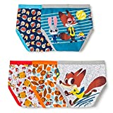 Disney Zootopia Little Boys' 5-Pack Of Briefs Sizes 4-6-8