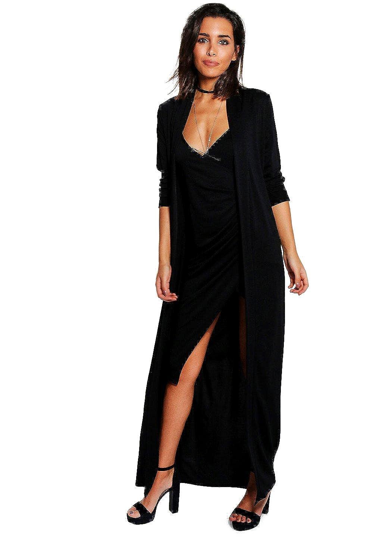 Black Womens Isla Texture Wrap Midi Dress Co-ord