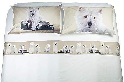 Lenzuola Matrimoniali Con Cani.Zenoni Colombi Completo Lenzuola In 100 Cotone Con Stampa