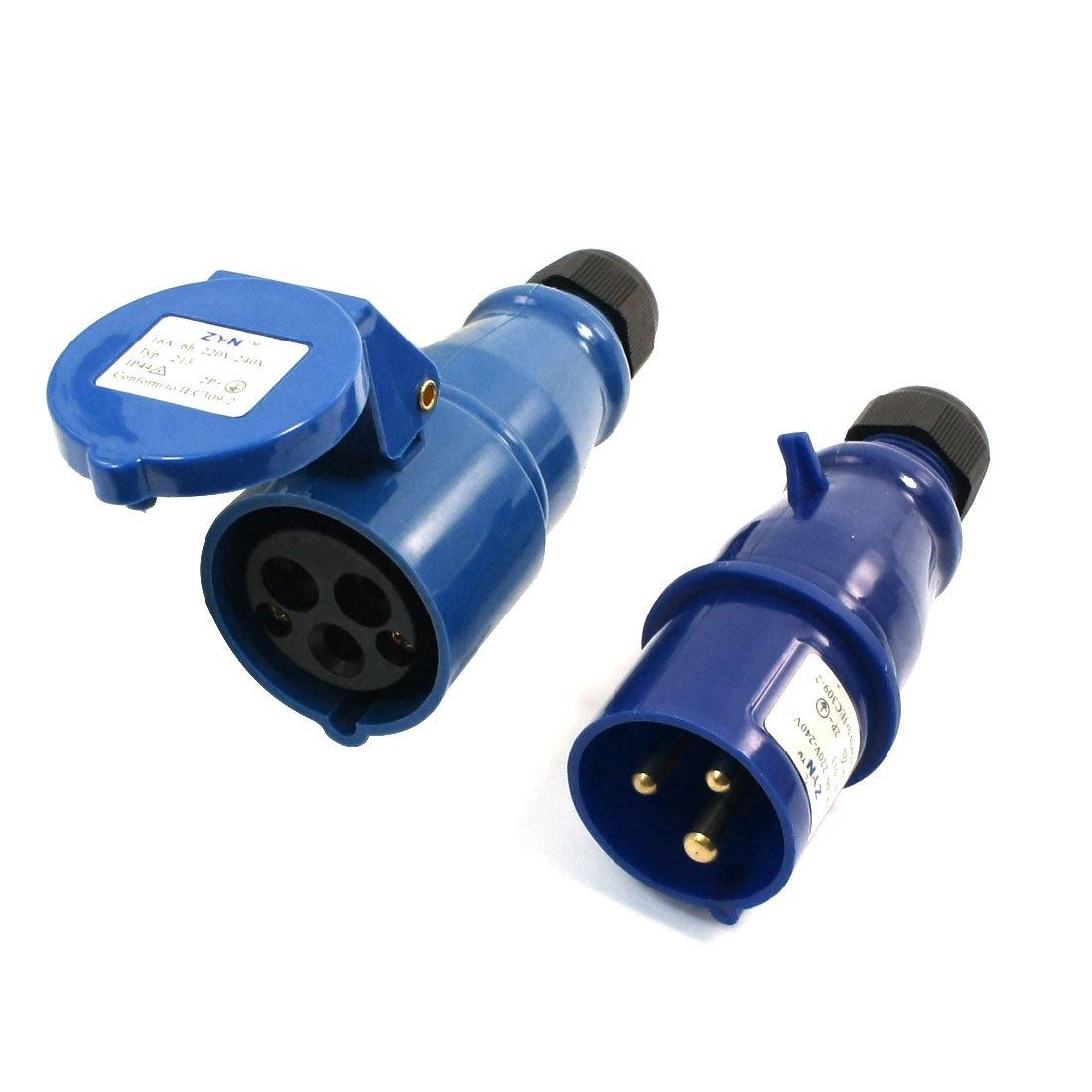 Powermaster Weatherproof Industrial 32A 230V 3 Pin Power Socket Connector