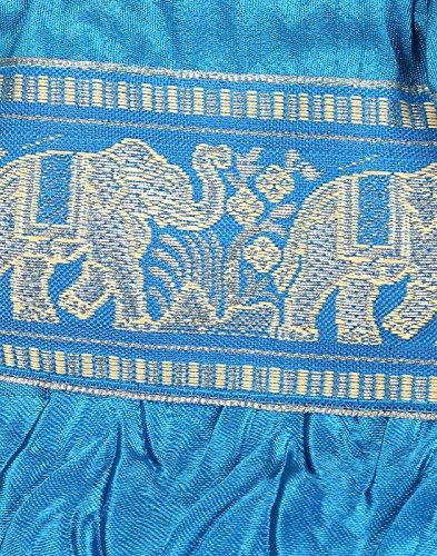 Rajrang attraente Pouch Bag Turchese Elefante Patch raso di lavoro per le donne