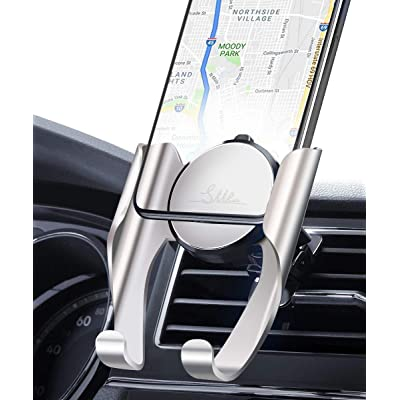 Cell Phone Holder for Car Phone Mount Air Vent Cell Phone Holder Mount for Car Compatible iPhone 11 Pro Max XR Xs Max Xs X 8 7 6 Plus Samsung Note 10 Galaxy S20 S11 S10 Car Mount Holder for Car,Silver