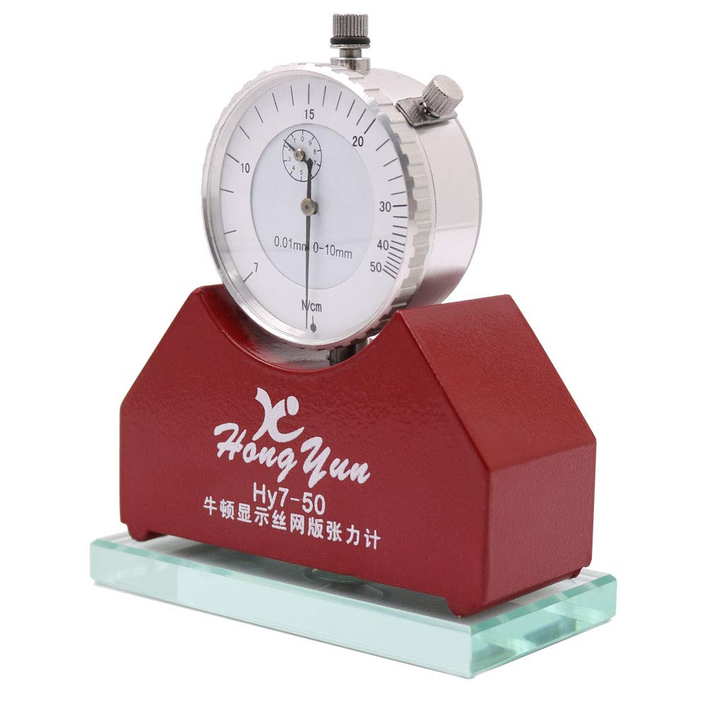 Tension Meter, High Precision Silk Screen Printing Tension Meter Force Meter Tester Newton Tension Meter Gauge Measurement Tool Range 7-50N by GOLDEN ELEPHANT