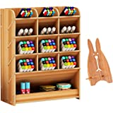 Marbrasse Wooden Desk Organizer, Multi-Functional DIY Pen Holder Box, Desktop Stationary, Home Office Supply Storage Rack with Drawer,Cell Phone Holder (B12-Cherry Color)
