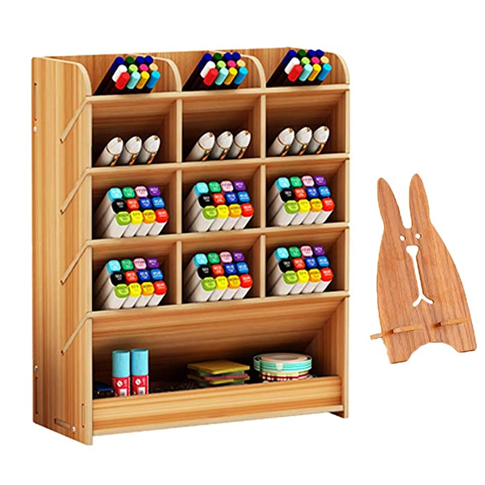 Top 9 Office Stationary Organizer Set Wood
