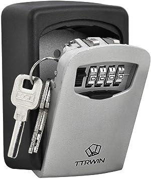 Caja de seguridad para guardar llaves con código de apertura, soporte de pared para uso en interior o exterior, de TTRwin®: Amazon.es: Electrónica