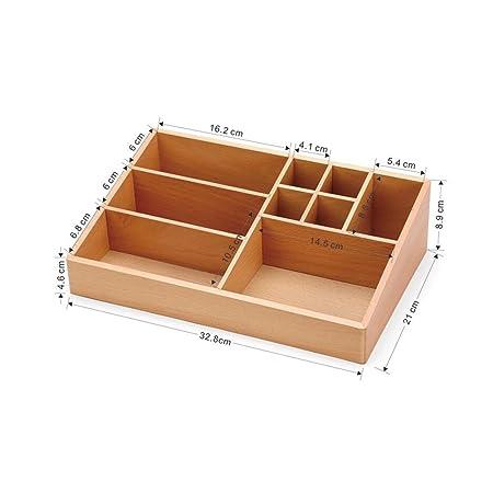 Amazon.com: CJC Storage Box Wood Rotate Cosmetic Storage Box ...