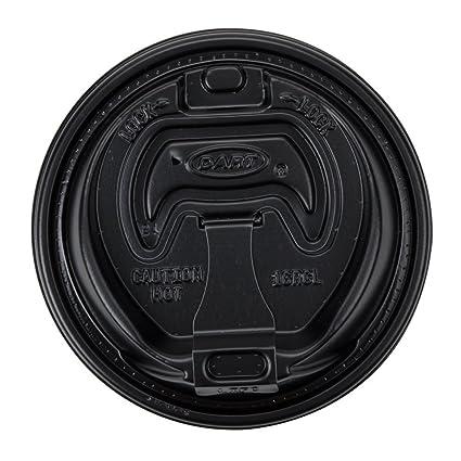 f9612fb0ed0 Amazon.com  Dart 16RCLBLK Black Optima Reclosable Lid for Dart 16 Series Foam  Cups (1 Pack of 100)  Kitchen   Dining
